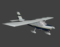 3D asset TECNAM p92 and P92 Amphibius