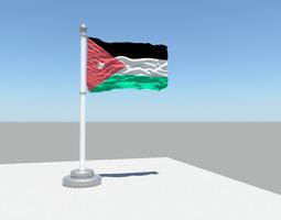 Jordan flag 3D