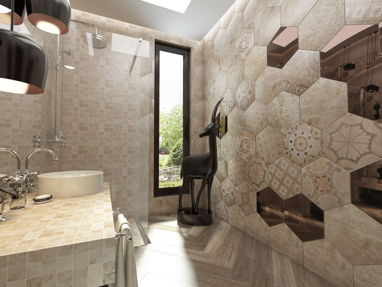 Bathroom Italian Ceramic Tiles 3d Model Max Fbx 1 ...