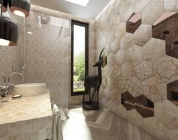 3d model bathroom italian ceramic tiles