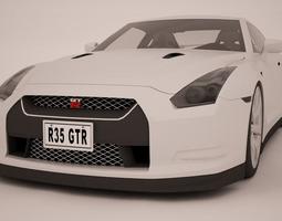 2015 nissan r35 gtr 3d model