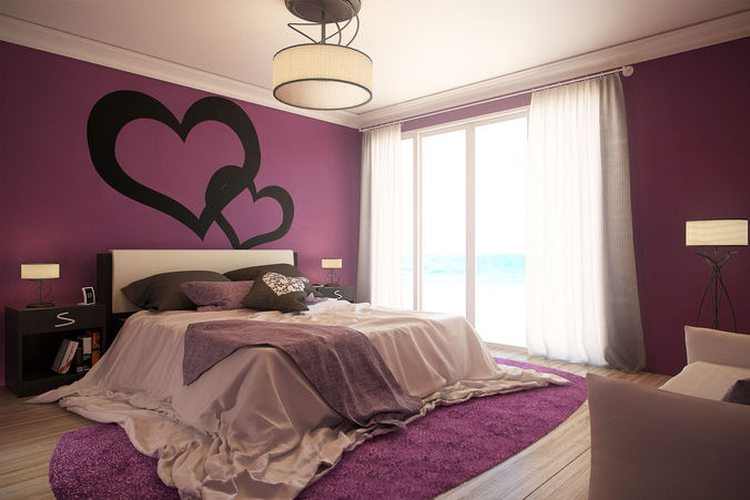 romantic bedroom updated 3d model cgtrader