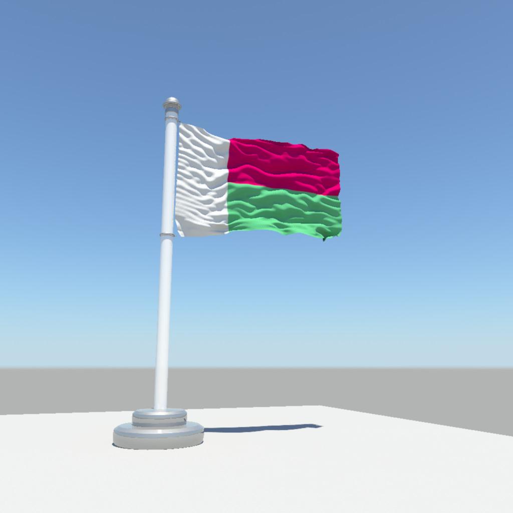 D Model Madagascar Flag CGTrader - Madagascar flag