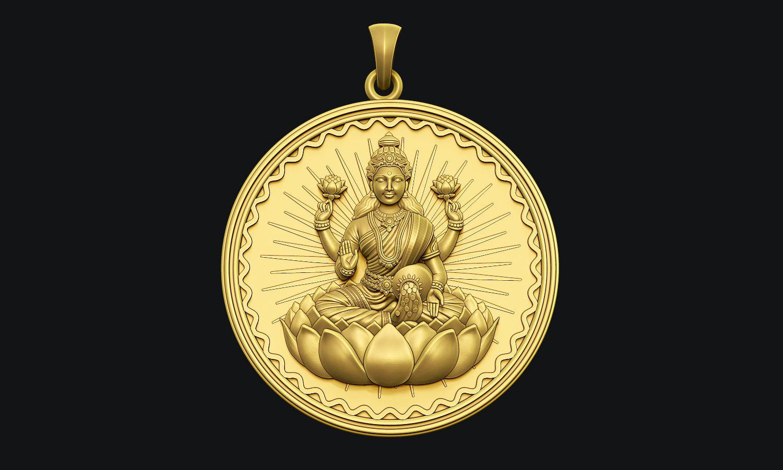 Laxmi Coin Pendant