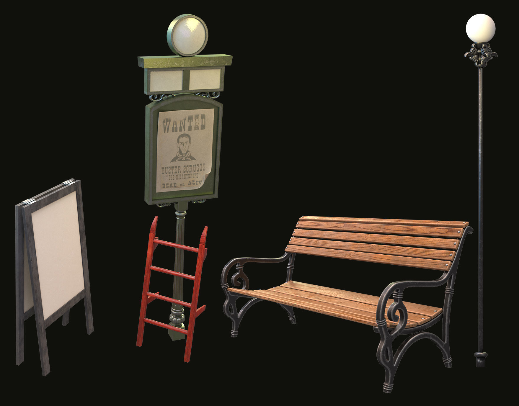 bench pointer stairs stand  collection for the station