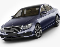 3d model mercedes e-class exclusive sedan hybrid 2017