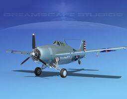 3D model Grumman F4F-3 Wildcat V08