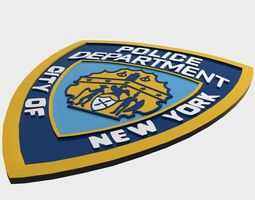 nypd police department logo 3d model low-poly max obj 3ds fbx
