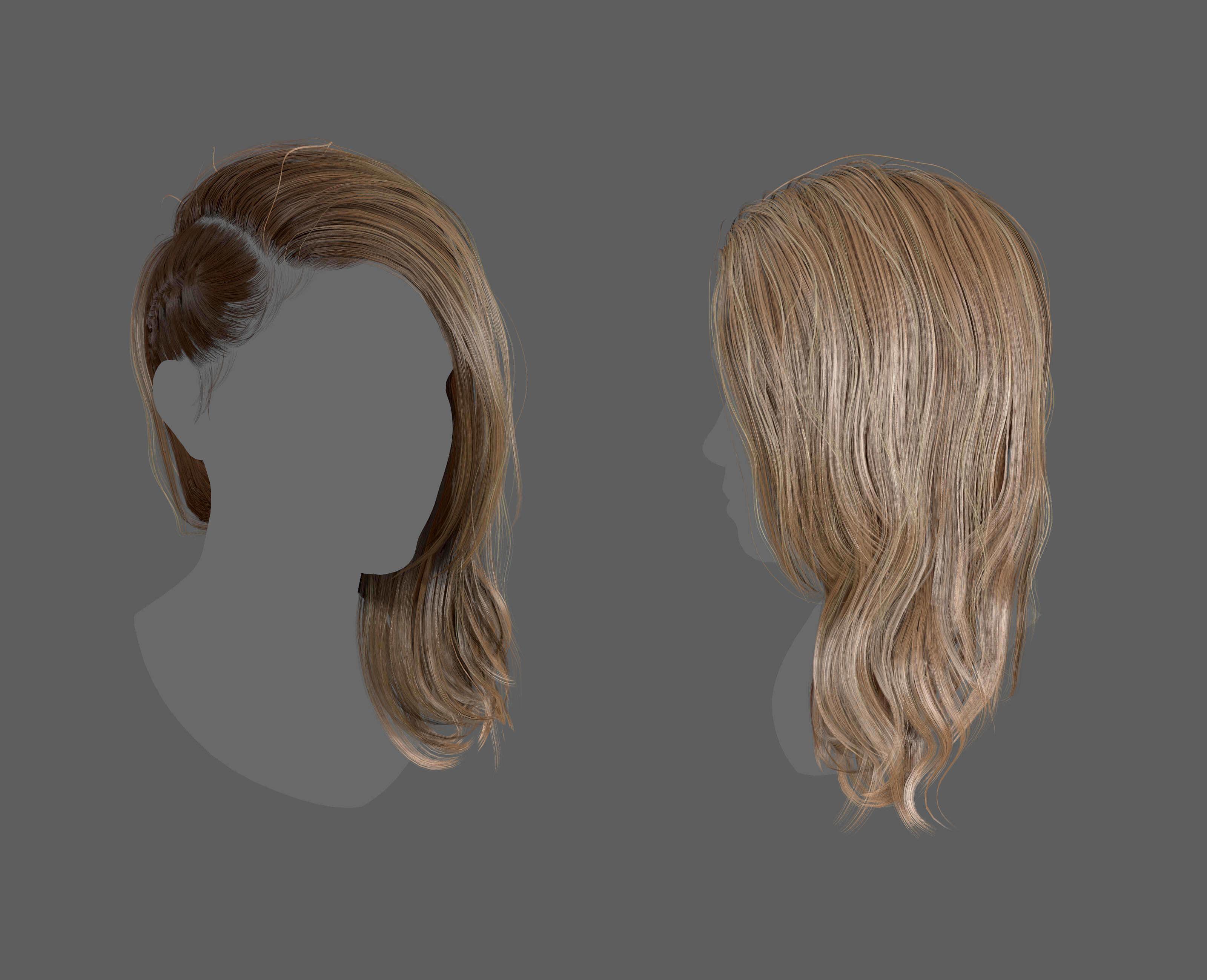Side Plait Realtime Hair