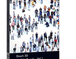 VR / AR ready Dosch 3D Lo-Poly People Vol1 Sample