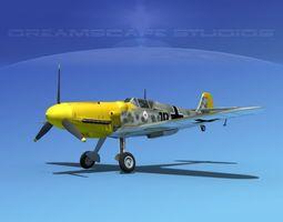 messerschmitt bf-109 v03 3d model rigged max obj 3ds lwo lw lws dxf stl