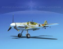 messerschmitt bf-109 v07 3d model rigged max obj 3ds lwo lw lws dxf stl