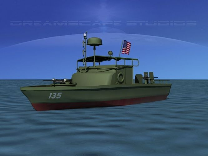 pbr patrol boat riverine 3d model max obj mtl 3ds fbx stl w3d 1
