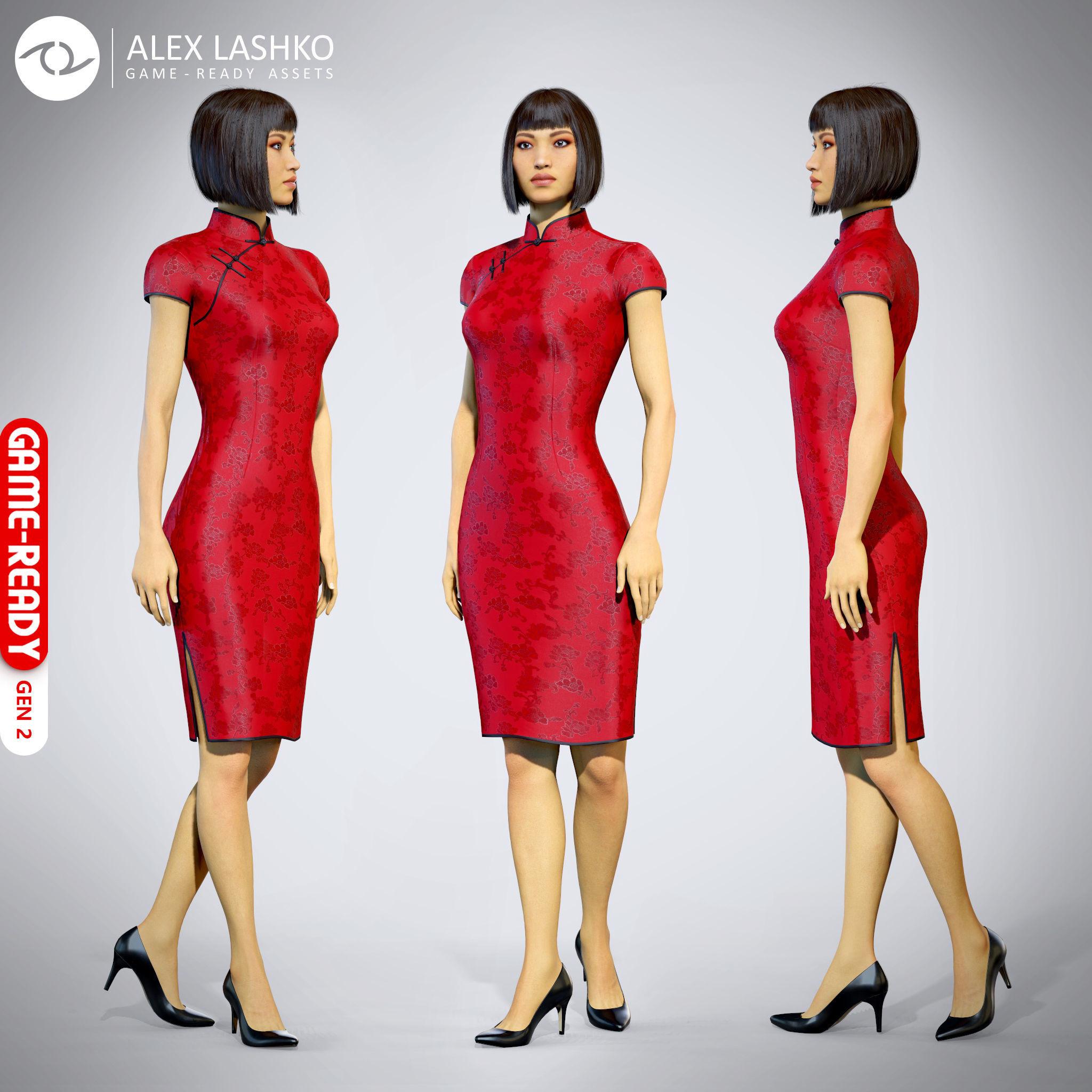 Female Character - Iva - Chinese Dress