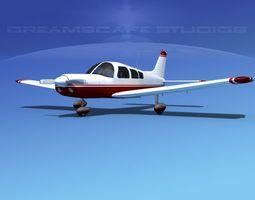 3d model rigged piper pa-28 v02