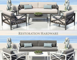 RESTORATION HARDWARE - MUSTIQUE COLLECTION 3D model