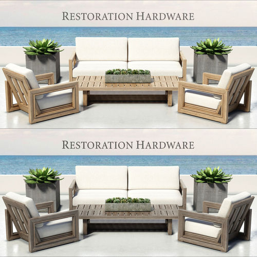 Restoration Hardware Sofa Collection: RESTORATION HARDWARE - COSTA COLLECTION 3D