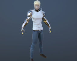 One punch man GENOS 3d model low poly  3D Model