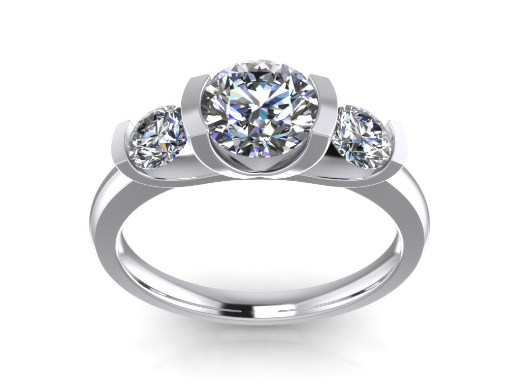 ring classic engagement rings product settings baguette