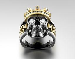skull fashion ring 0204 3d model obj fbx ma mb stl mtl