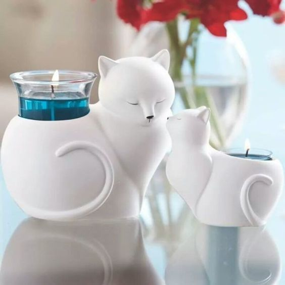 Cat 2 planter or candle 3d model stl for 3d printing