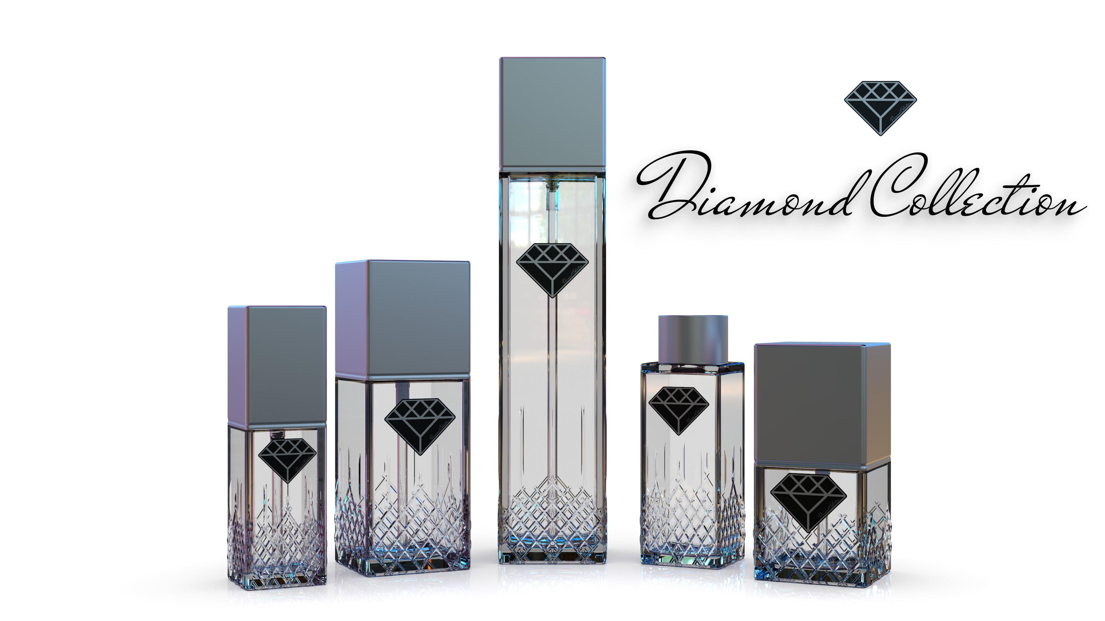 Diamond Collection cosmetics bottles