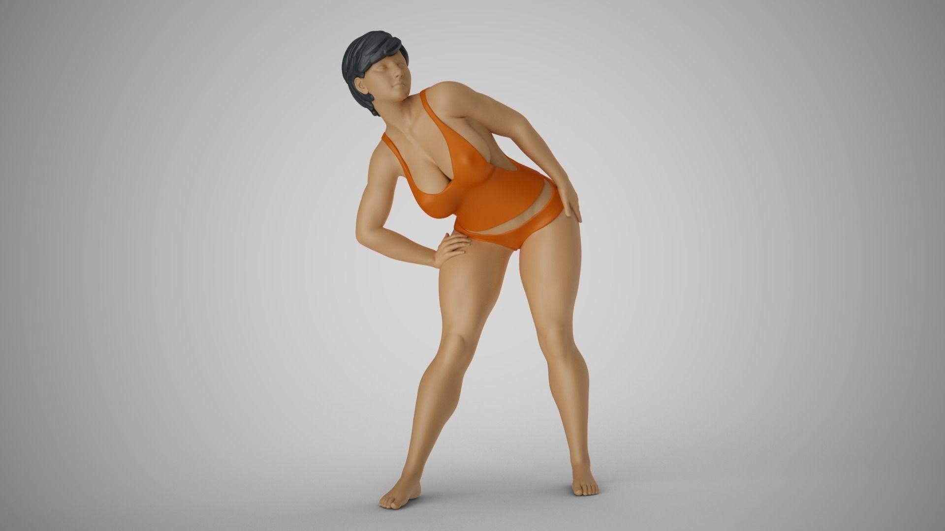 Woman Bending to Look