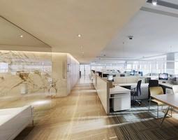 office-desk 3D model Office