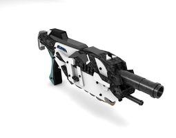 3d model futuristic gun -2 - exclusive design