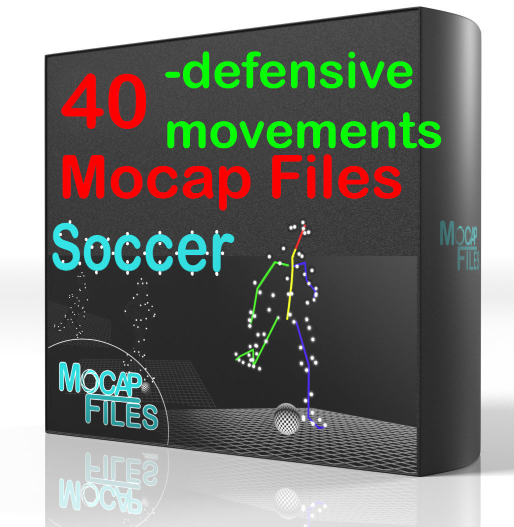 5-Soccer football motion capture animation -Defensive movements