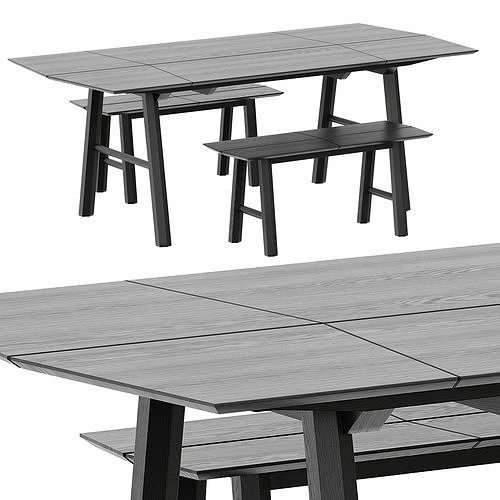 TABLE AND BENCH SAVIA BY WOODENDOT