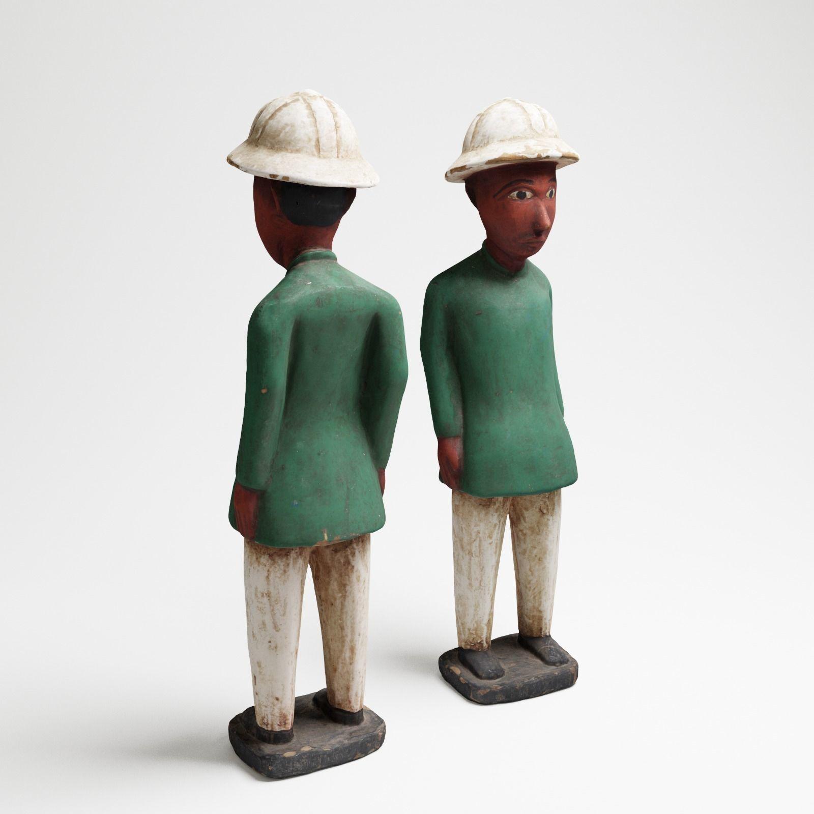 Green Man an African wood sculpture 3d scan