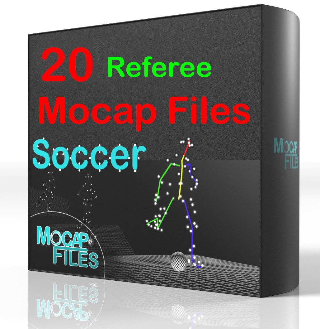 11-Soccer football motion capture animations - Referee-