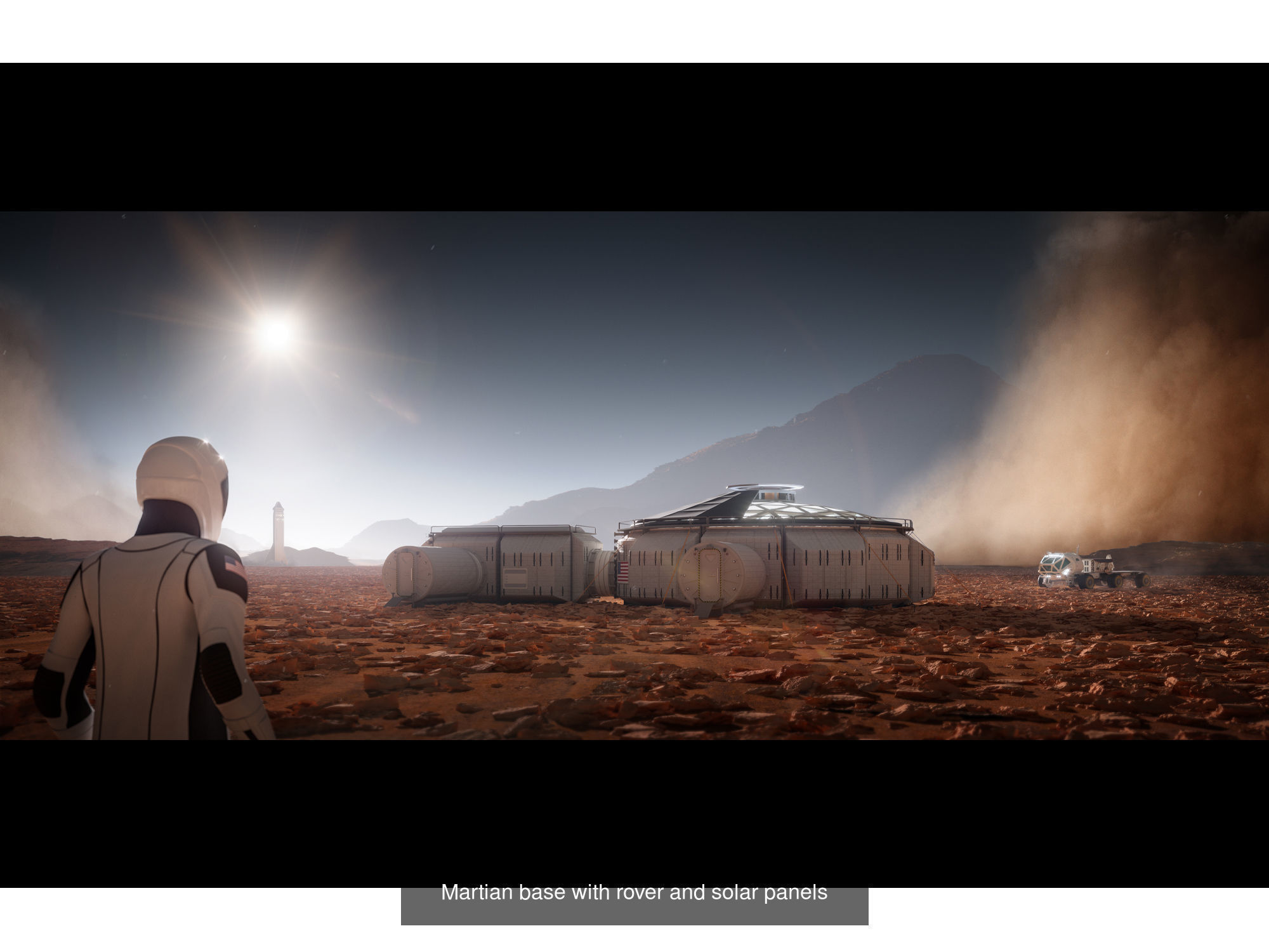 Space explorer bundle Martian base and SpaceX starships