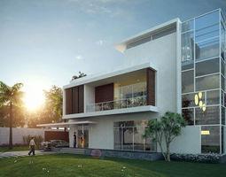 3D Private Villa Exterior