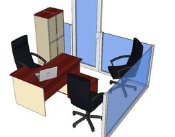 Office 3D model animated