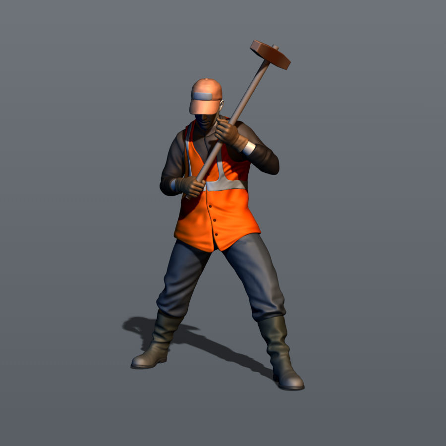 Railroad worker Part 2 3D print model