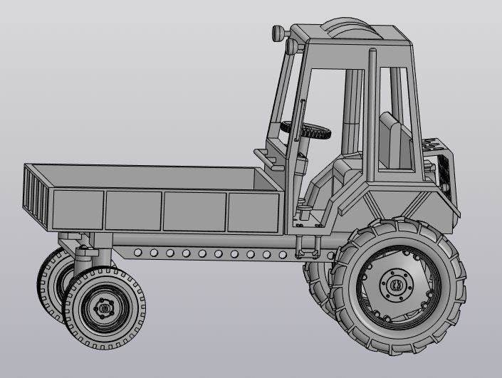 The model of tractor T-16