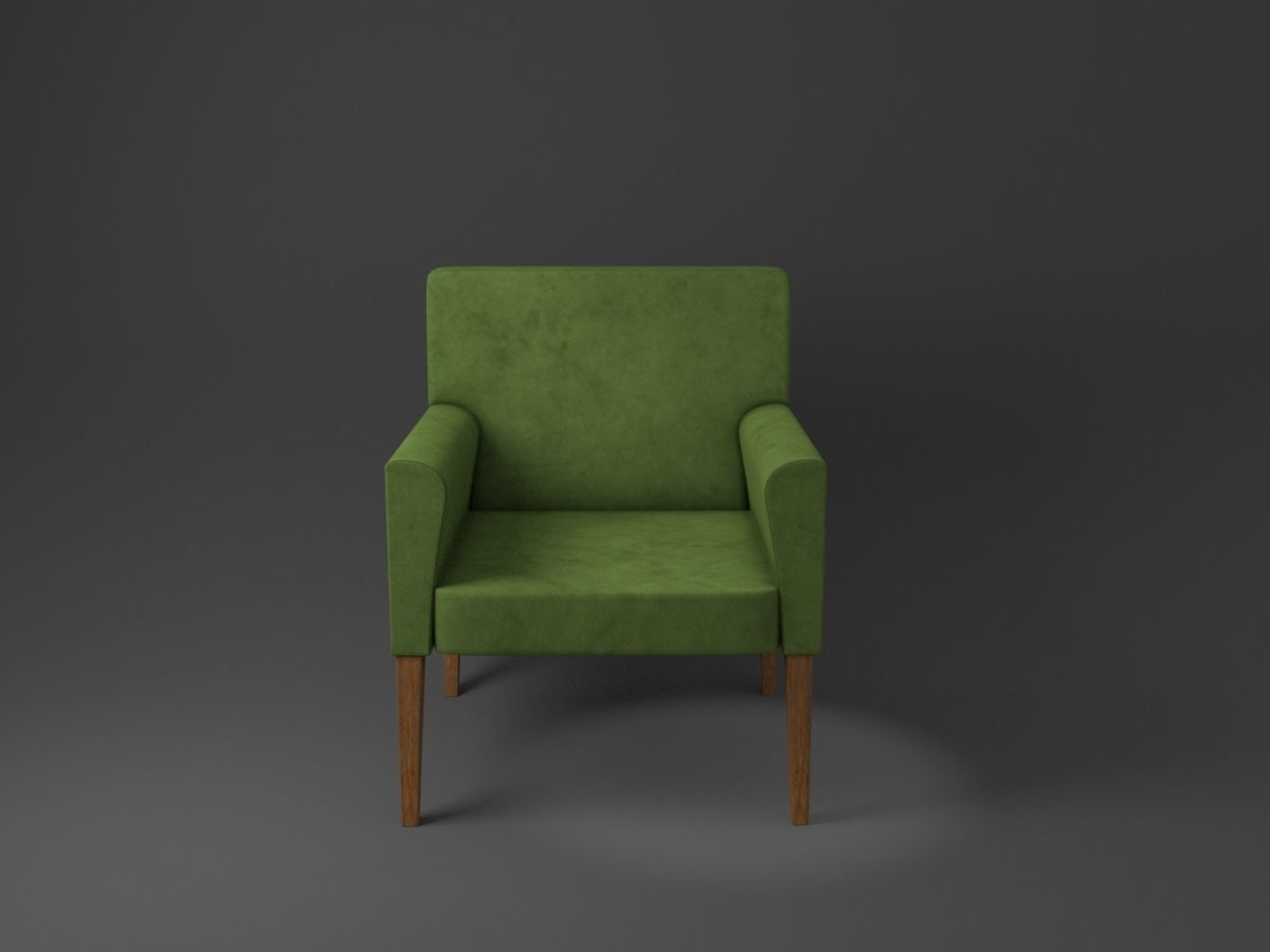 Cubic Chair Green Low poly