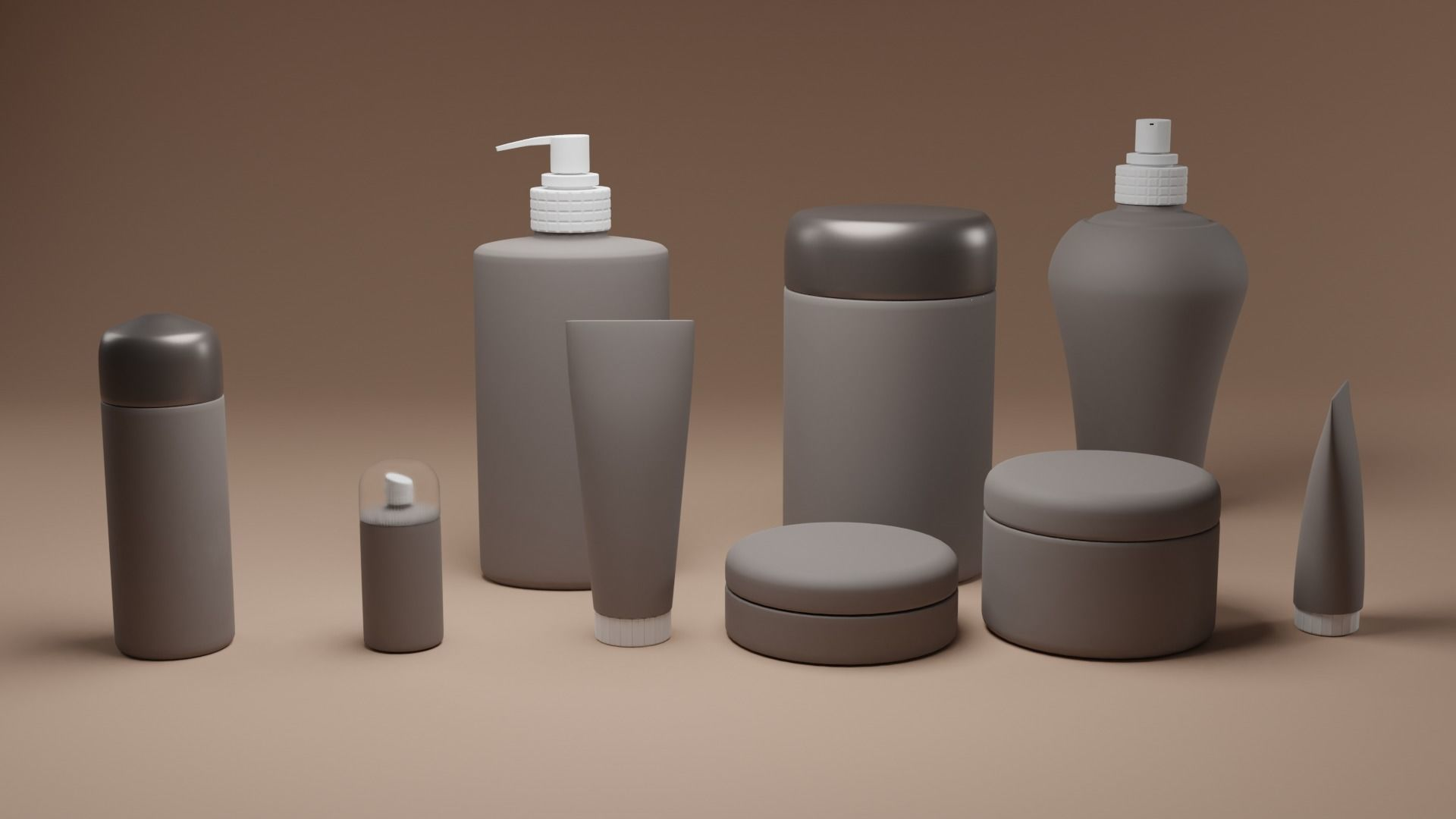 Cosmetics and skin care mock up