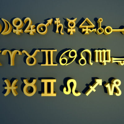 zodiac magic symbols 3d model max obj mtl 3ds fbx lwo lw lws ma mb 1