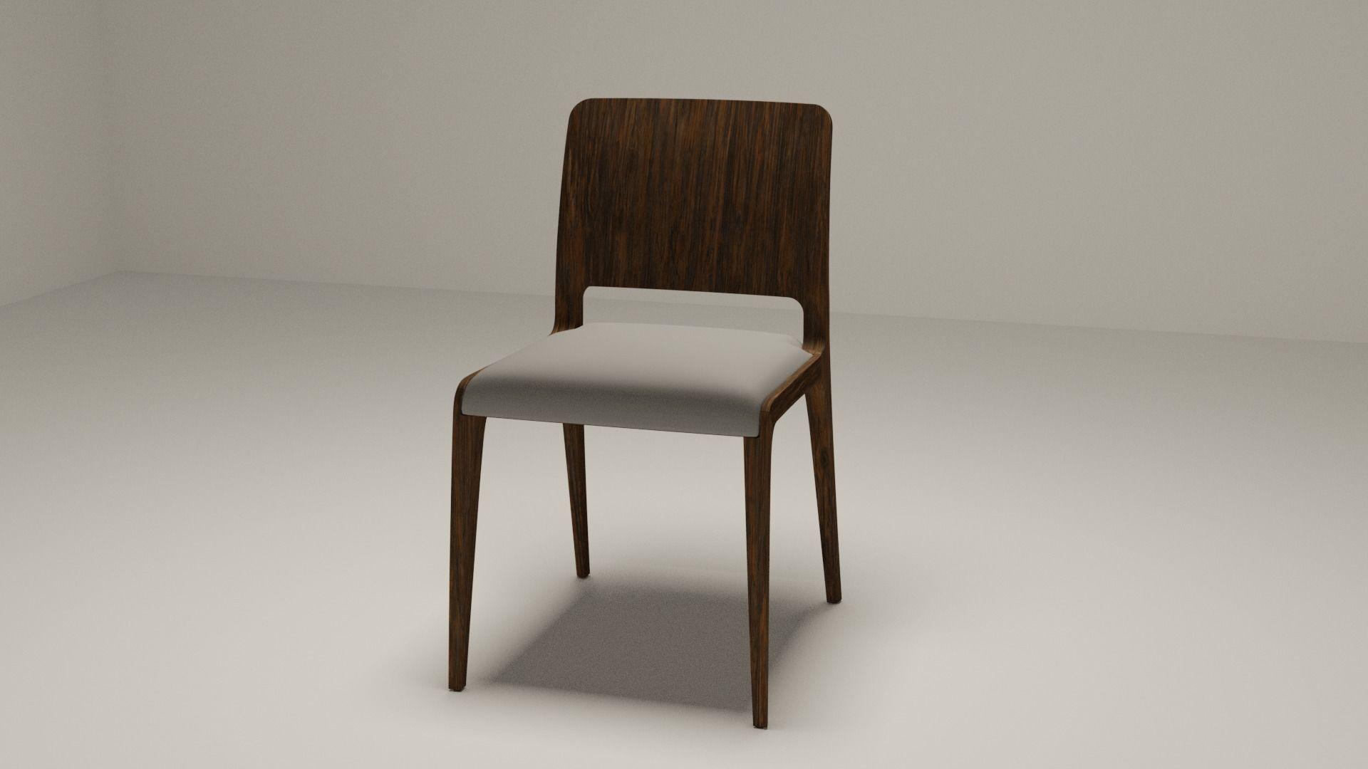 Modern Minimalist Wooden Chair 3d Model Cgtrader