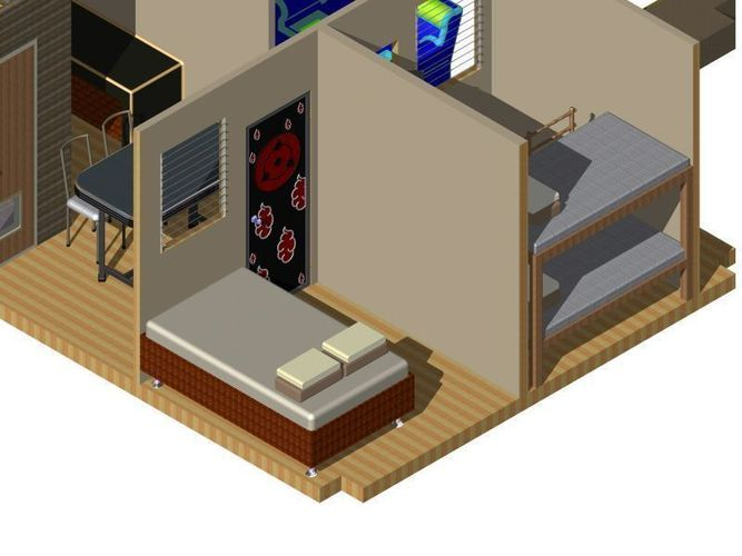 Simple House 3d Model Iam Ipt 1