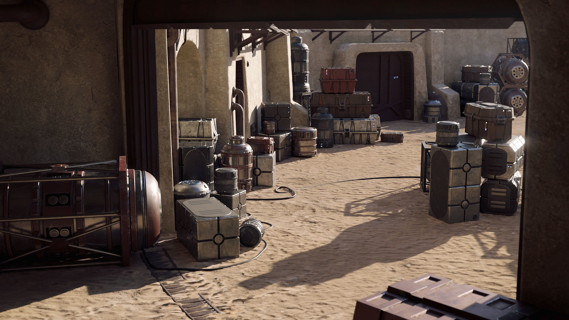 Star Wars Crates and Barrels 33 Variants - 3D Asset Kit PBR