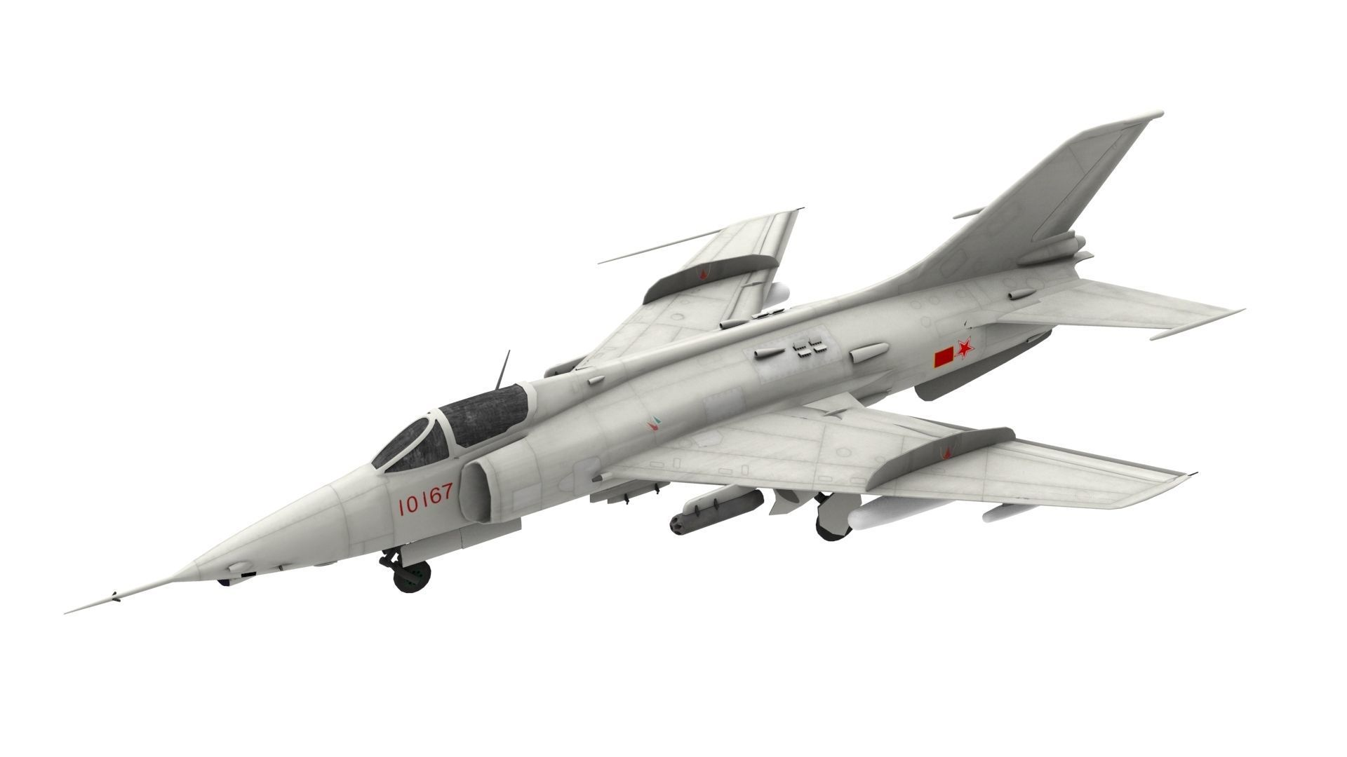 Lowpoly Nanchang Q-5 Aircraft