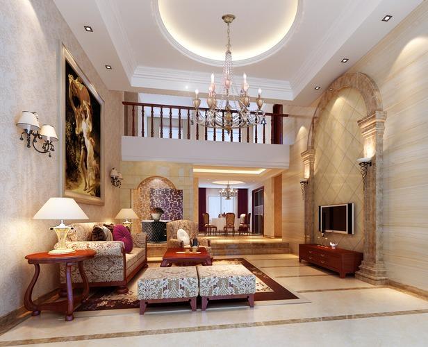 classy living room 3d model max 1