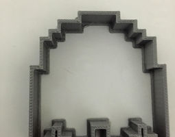 3D printable model Pac-Man ghost cookie cutter
