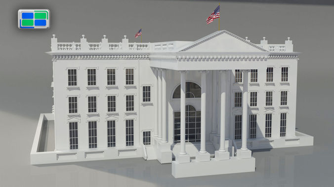 3d white house cgtrader for Exterior 3ds max model
