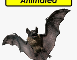 game-ready animated 3d model vampire dark bat
