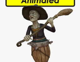 3D asset Wicked Witch